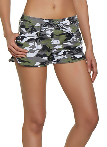 Almost Famous Denim Camo Dolphin Shorts,GRAY,large