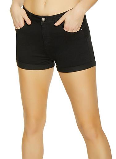 WAX High Rise Shorts,BLACK,large