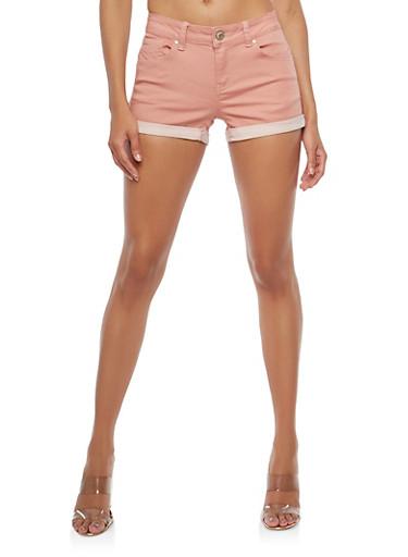 WAX Push Up Jean Shorts,MAUVE,large