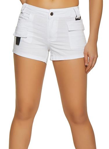 Cargo Shorts,WHITE,large