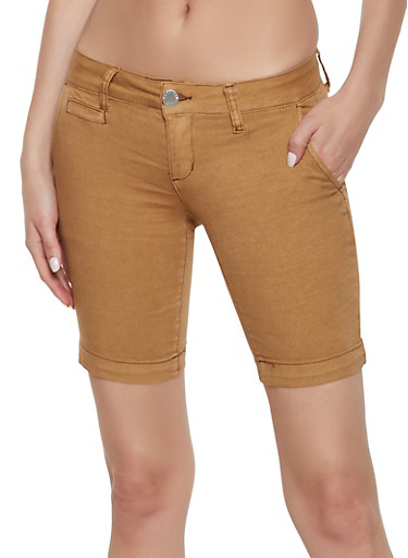 VIP Denim Bermuda Shorts | 1072065301572,BROWN,large