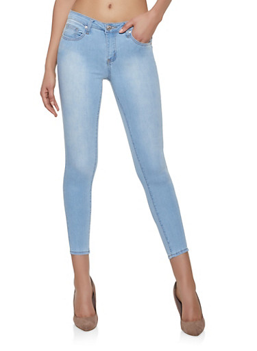 Almost Famous Push Up Skinny Jeans,LIGHT WASH,large