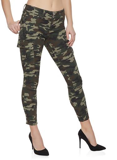 Camo Cargo Pants,GREEN,large