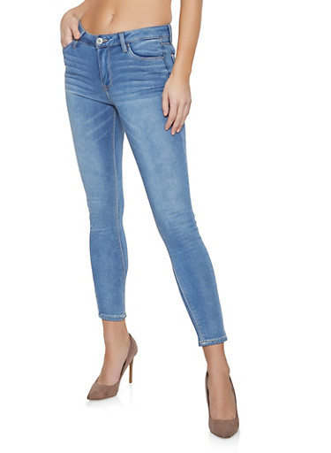 Almost Famous Whisker Wash Jeans,MEDIUM WASH,large