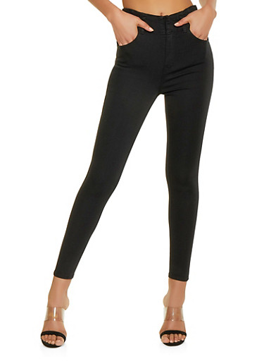 Almost Famous High Waisted Skinny Jeans | Black,BLACK,large