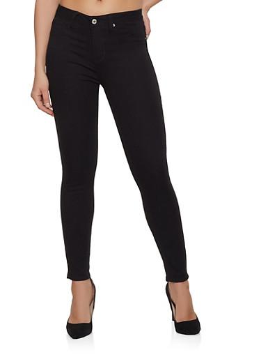Basic Skinny Jeans   1074059190001,BLACK,large