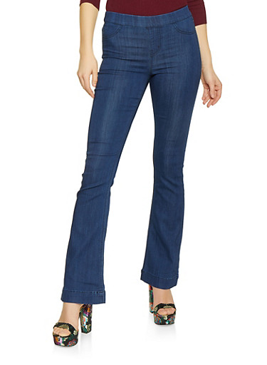 Cello Flared Jeans,MEDIUM WASH,large