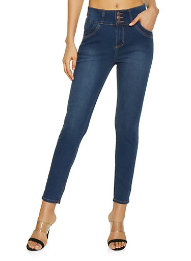 Cello 3 Button Push Up Jeans | 1074063156517,DARK WASH,large