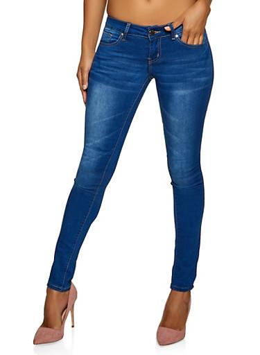 VIP Whisker Wash Jeans,MEDIUM WASH,large