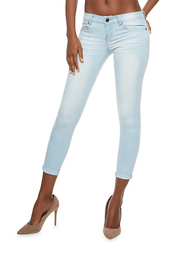 VIP Light Wash Skinny Jeans,LIGHT WASH,large