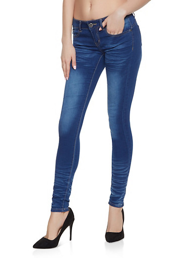 VIP Push Up Skinny Jeans | Medium 5 Pocket,MEDIUM WASH,large