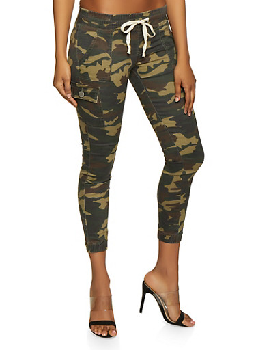 Cargo Camo Joggers,OLIVE,large