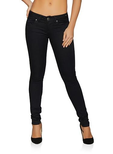 VIP Black Push Up Skinny Jeans,BLACK,large