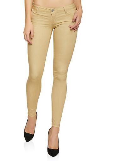 Solid Khaki Pants,KHAKI,large