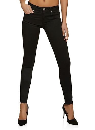 VIP Black Basic Push Up Skinny Jeans,BLACK,large