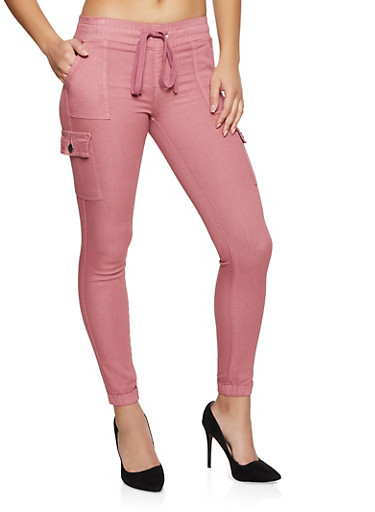 Solid Cargo Joggers | 1074065302626,MAUVE,large