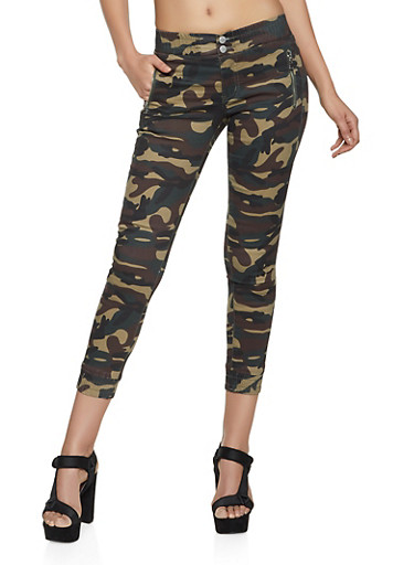 VIP 2 Button Camo Joggers,OLIVE,large