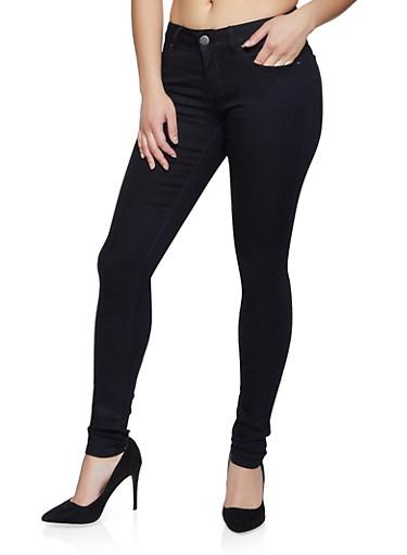 VIP Black Basic Skinny Jeans,BLACK,large