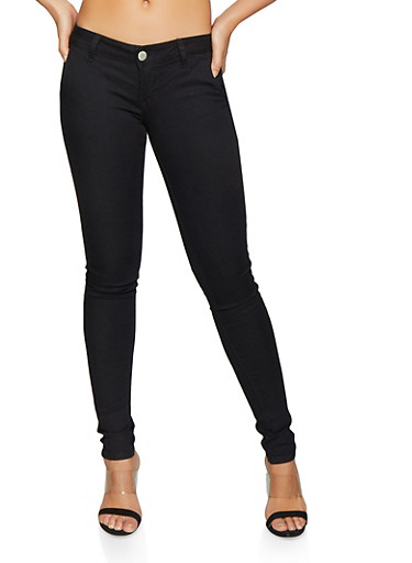 Basic Skinny Pants,BLACK,large