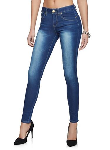 VIP Faded Wash Jeans,MEDIUM WASH,large