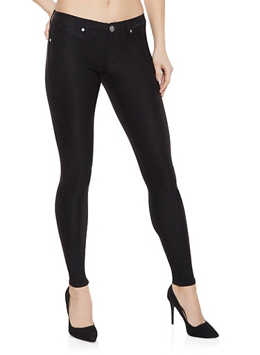 Black Push Up Jeggings,BLACK,large