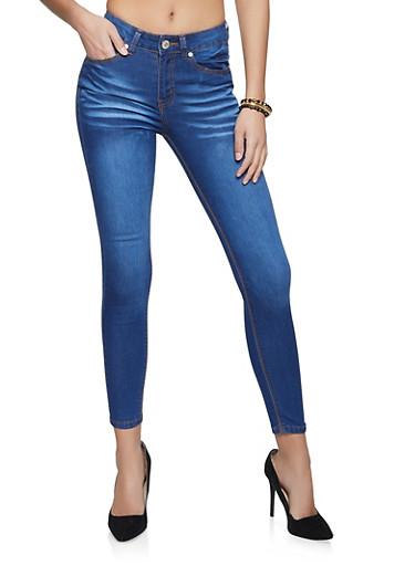 VIP Medium Wash Skinny Jeans,MEDIUM WASH,large
