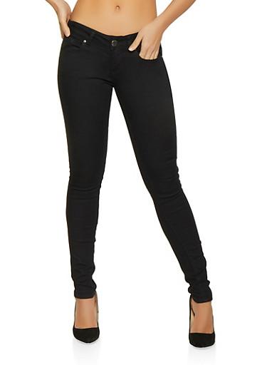 VIP Black Skinny Push Up Jeans,BLACK,large