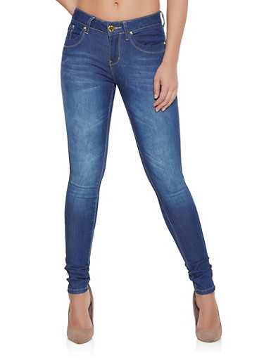 VIP Dark Midrise Jeans,DARK WASH,large