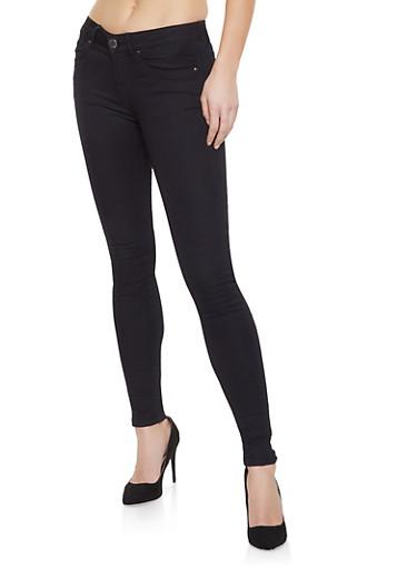 VIP Black Push Up Skinny Jeans | 1074065307318,BLACK,large