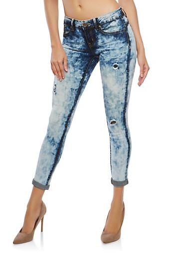 VIP Push Up Skinny Jeans,MEDIUM WASH,large