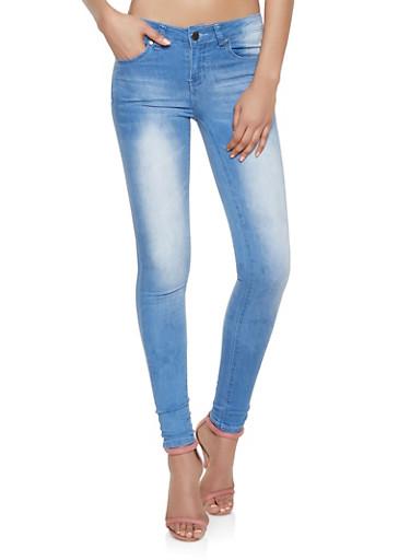 VIP Light Midrise Skinny Jeans,LIGHT WASH,large