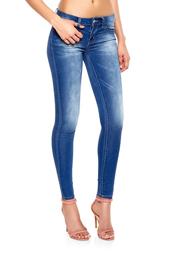 VIP Dark Midrise Skinny Jeans | 1074065307652,DARK WASH,large