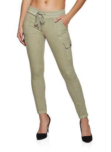Twill Cargo Joggers | 1074065308026,GREEN,large