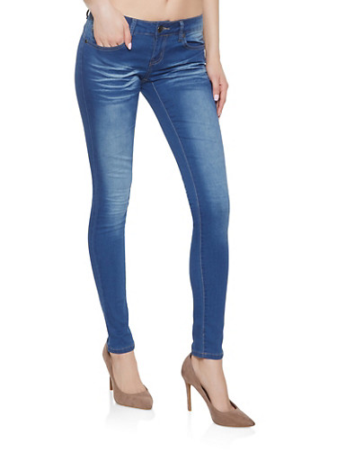 VIP Push Up Whisker Wash Jeans,BLUE,large
