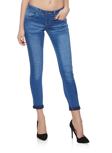 VIP Faded Push Up Skinny Jeans | Light Wash,DARK WASH,large