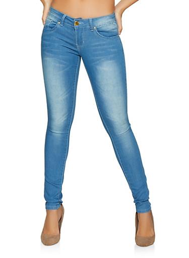 VIP Whiskered Push Up Skinny Jeans | Light Wash,DENIM,large