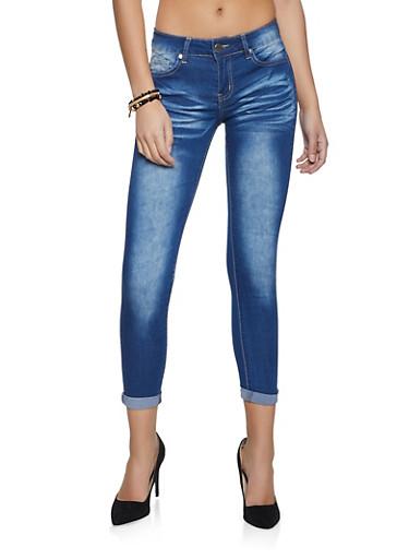 VIP Medium Wash Roll Cuff Jeans,MEDIUM WASH,large