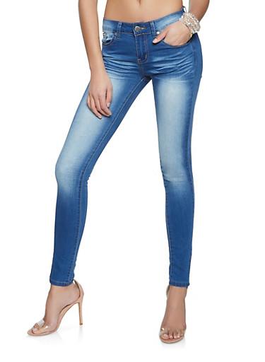 VIP Medium Whisker Wash Jeans,MEDIUM WASH,large