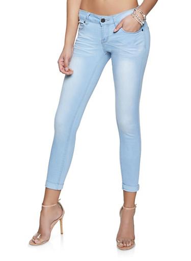 VIP Light Whisker Wash Jeans,LIGHT WASH,large