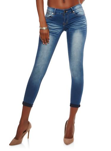 Push Up Skinny Jeans,MEDIUM WASH,large