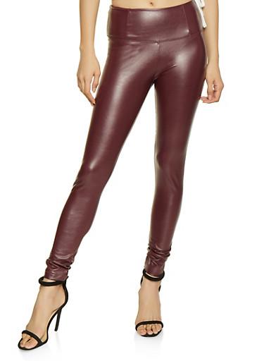 Faux Leather Leggings - 1074068193050