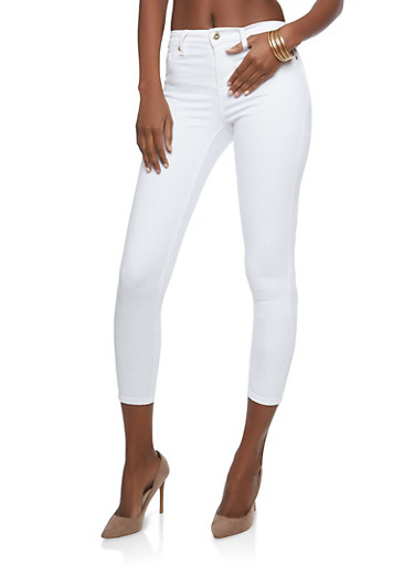 Highway Push Up Skinny Jeans,WHITE,large