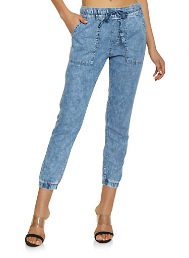 Highway Pull On Chambray Joggers,BLUE,large