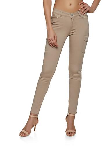 Twill Cargo Pants,KHAKI,large