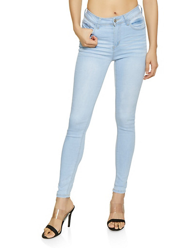 WAX Whisker Wash High Rise Jeans,LIGHT WASH,large