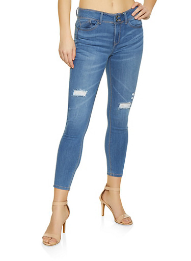 WAX Whisker Wash Push Up Jeans,LIGHT WASH,large