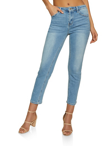 WAX Straight Leg Jeans,LIGHT WASH,large