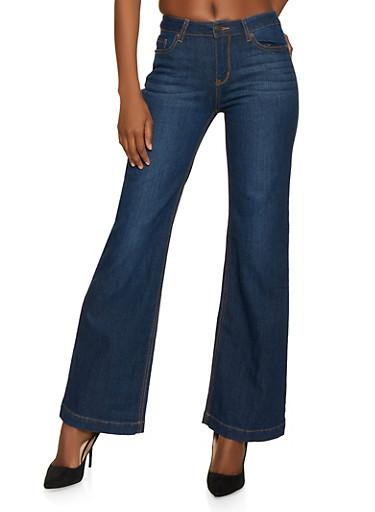 WAX Flared Jeans,DARK WASH,large