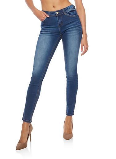 WAX Whisker Wash Skinny Jeans,MEDIUM WASH,large
