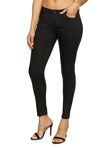 WAX Push Up Stretch Jeans,BLACK,large